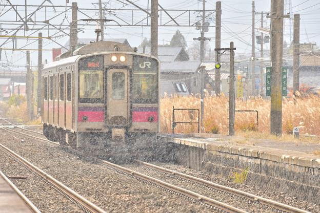 秋田で初雪2