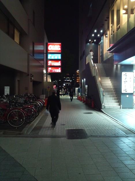 エロ映画館通り。右側にあった映画館は無くなってしまった。