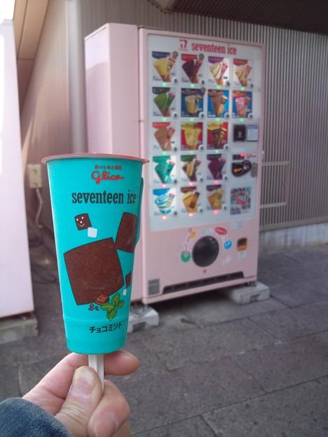 お腹がすいたのでチョコミントアイス。
