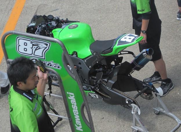 写真: 24 2013 87 柳川 明 TEAM GREEN ZX-10R IMG_1203
