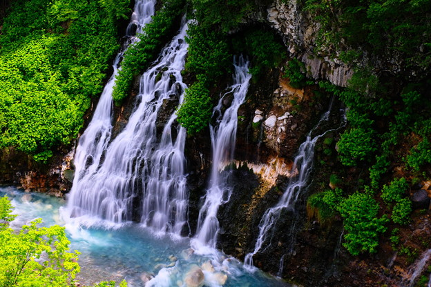 写真: 美瑛 白ひげの滝3