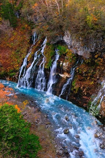 紅葉に染まる白ひげの滝 その1