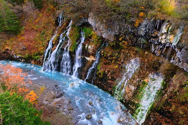 紅葉に染まる白ひげの滝 その2