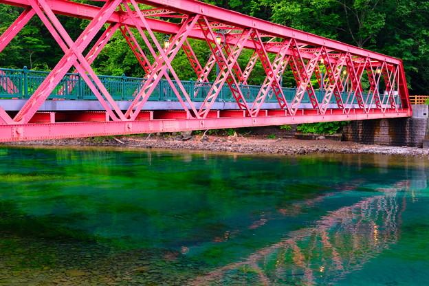 支笏湖山線鉄橋と千歳川