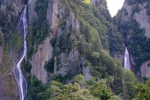 双瀑台より銀河の滝・流星の滝を望む