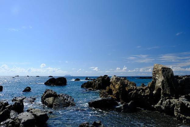 松前小島・松前大島を望む
