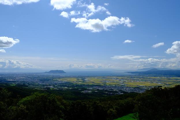 城岱牧場より函館市街を望む