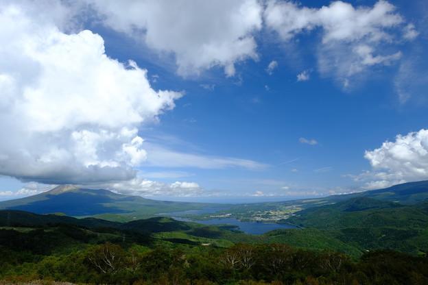 きじひき高原より望む駒ヶ岳と大沼公園