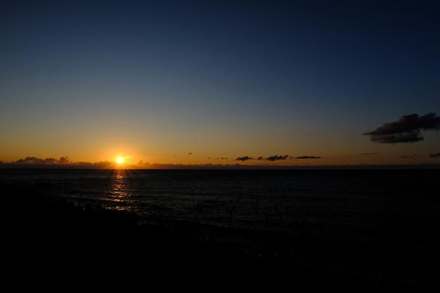 秋分の日の夕暮