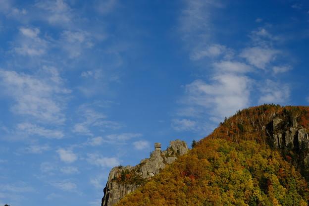 紅葉に染まる層雲峡 その2