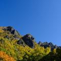 紅葉に染まる層雲峡 その3