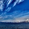 Photos: 厳冬の支笏湖畔より恵庭岳を望む