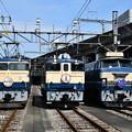 EF65 501、EF65 1102、EF66 27歴代特急機