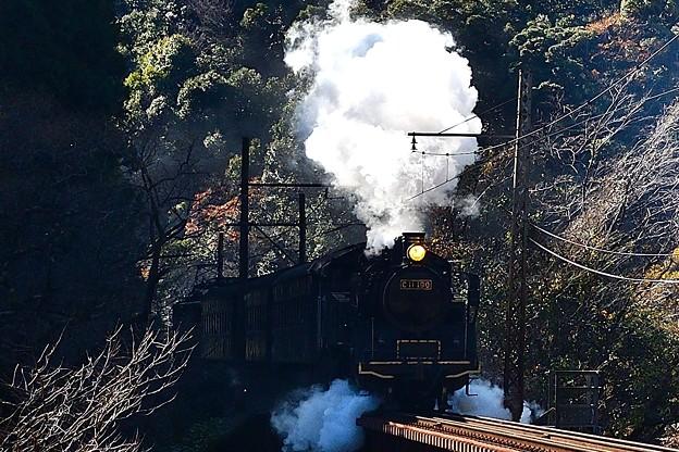 写真: 地名坂に挑むC11 190