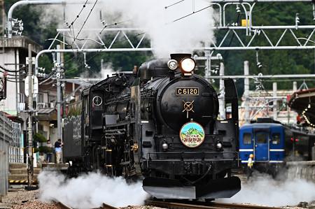 C61 20+12系客車SLぐんまみなかみ号(機回し)