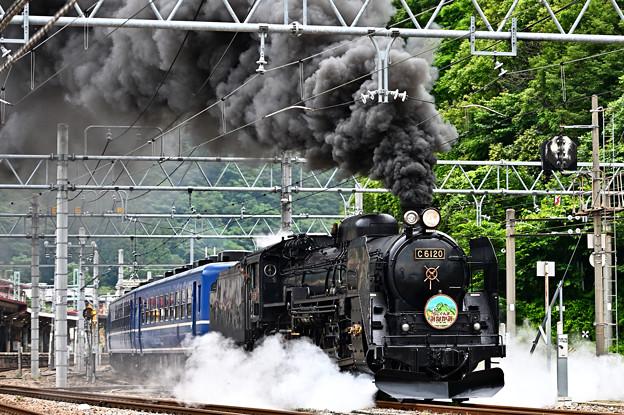C61 20+12系客車SLぐんまみなかみ号(水上発車)