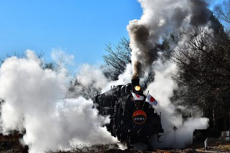 C12 66牽引真岡鐵道SL新年号2020