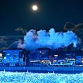 Photos: 十四夜月とSL大樹 Side View