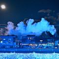 Photos: 十四夜月とSL大樹6号