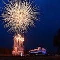 Photos: SL大樹6号と打ち上げ花火
