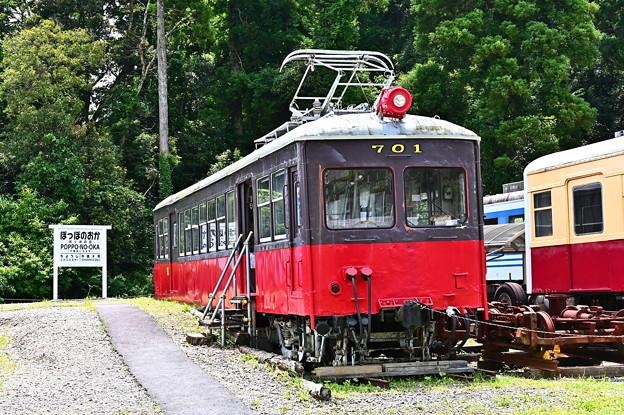 Photos: 銚子電鉄デハ701@ぽっぽの丘