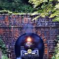Photos: C57 180牽引SLばんえつ物語平瀬トンネル飛び出し