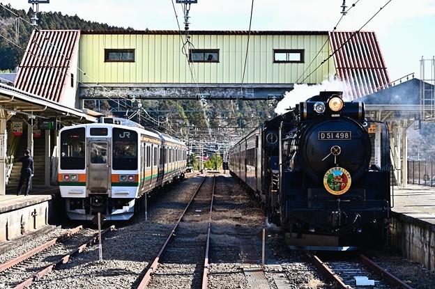 横川駅に集うD51&211系