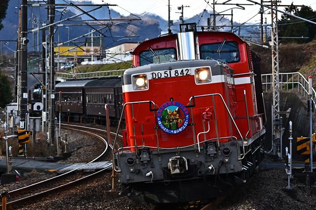Photos: DD51 842牽引DLぐんまよこかわ号