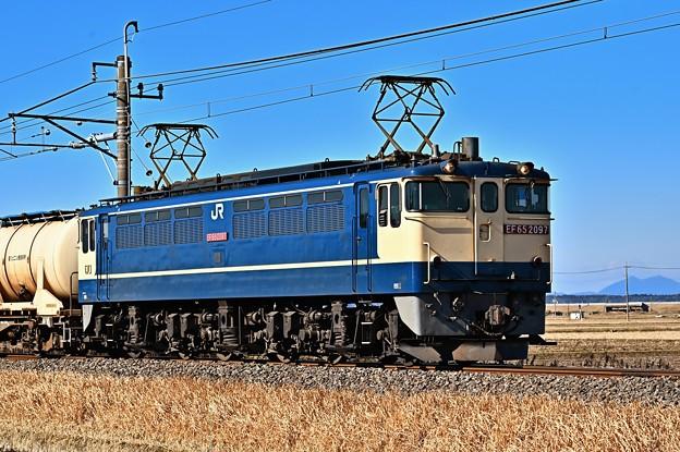 Photos: EF65 2097と筑波山