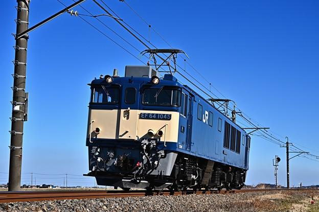 Photos: EF64 1045[愛]国鉄色1094レ単機