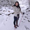 写真: 雪ニ白鷺