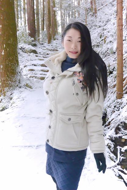 写真: 雪模様
