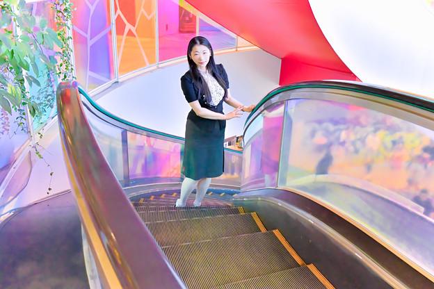 Winding escalators