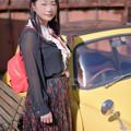 Yellow cute car