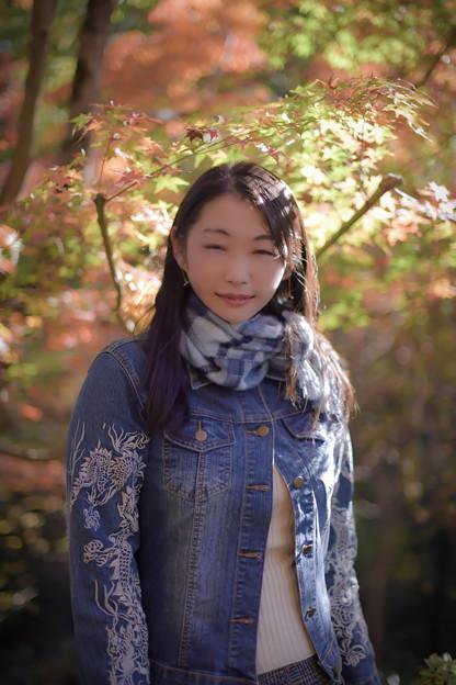 Autumn day smile