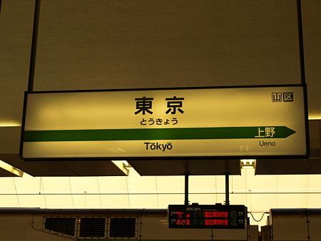 東京駅名標