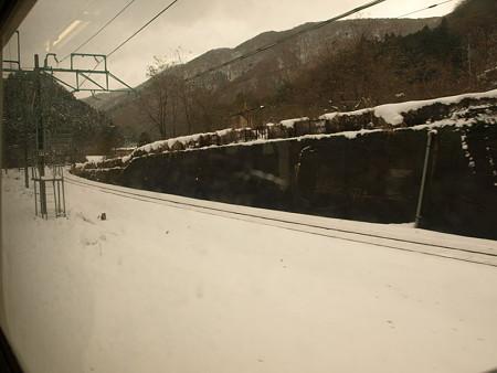115系車窓(水上駅構内)