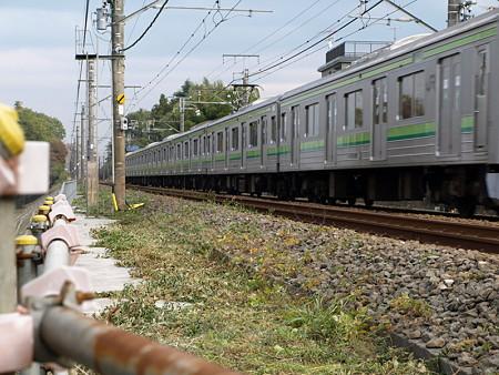 横浜線205系成瀬踏切