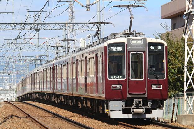阪急8000系c#8040×2R+同8041×2R+7000系c#7024×4R