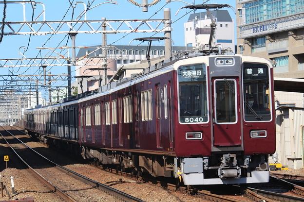 阪急8000系c#8040×2R+同c#8041×2R+7000系c#7024×2R