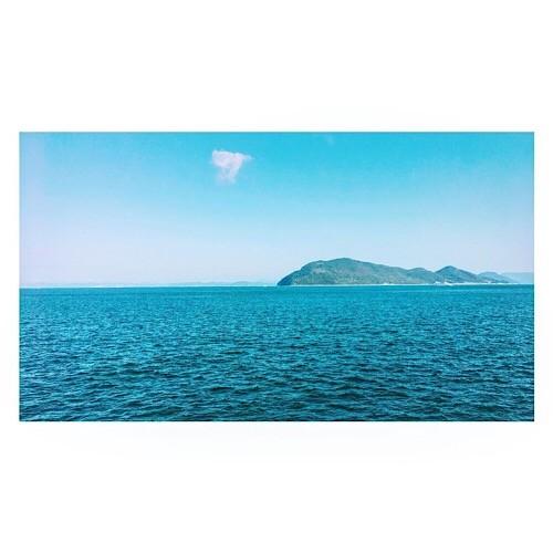 高松から見える瀬戸内海