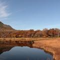 紅葉の鏡沼