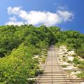 IMG_1597a空に向かうイワオヌプリの階段