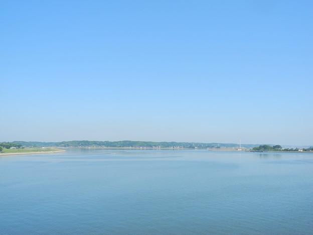 2018.05.22 きょうの風景・北浦と青空