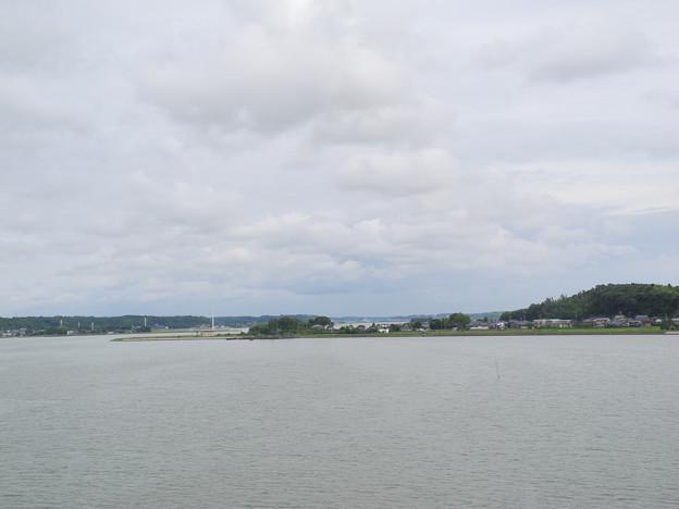 2018.06.18 きょうの風景(北浦と雲)