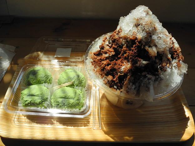 2018.06.25 今日食べたお菓子(永井製菓;かき氷(チョコミルク、うぐいすきな粉の草だんご)