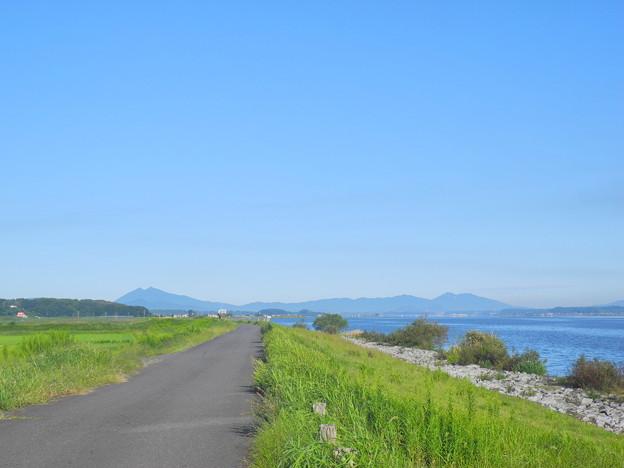 2018.09.28 きょうの風景(青空と筑波山)