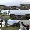 写真: 台風の被害が残る芝生公園