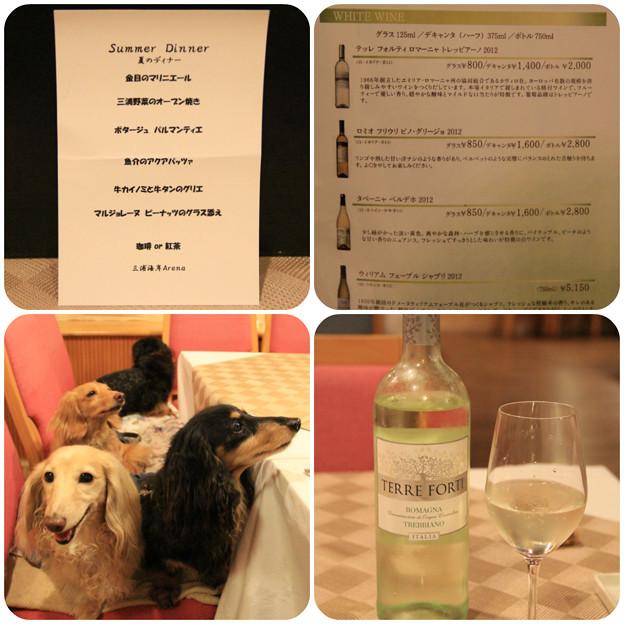 夏のディナーは白ワインと