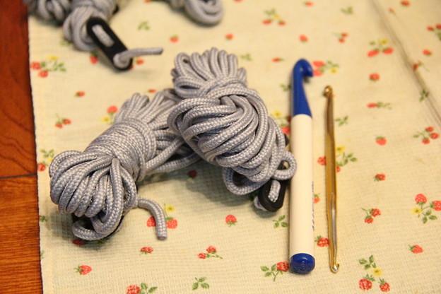 ロープを使って編んでみよう